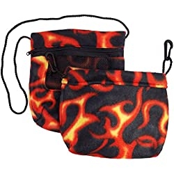 Bonding & Sleeping Pouch Combo Bundle for Sugar Gliders and other small pets (Hot Rod Flames)