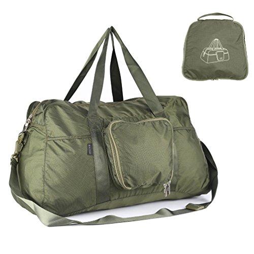 oleader 40l折りたたみ式旅行ダッフルバッグ軽量スポーツダッフルラゲージ用ジム