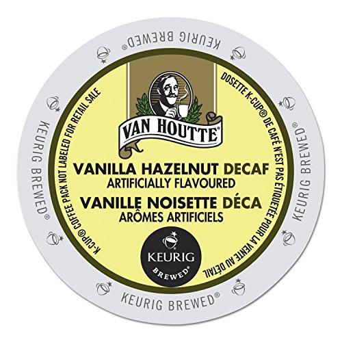 Van Houtte Cafe Vanilla Hazelnut Decaf K-Cup for Keurig Brewers, 96 Look on