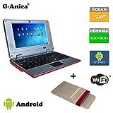 Netbook Laptop Android 4.2 HDMI écr.7 (Wifi-SD-MMC) 1GB RAM + 8GB ROM+ Laptop bag(Red)