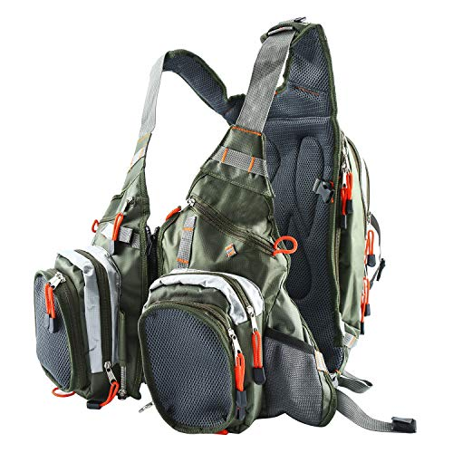 Amarine Made Fly Fishing Backpack Adjustable Size Mesh Fishing Vest Pack, Fly Fishing Vest and Backpack Combo