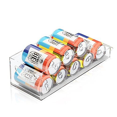 Marchpower Beverage can organizer Clear Refrigerator Storage BPA-Free Drawer Organizers for for Refrigerator Freezer and Pantry Storage