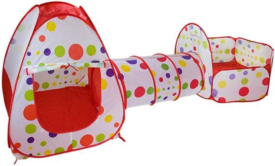 Tienda Campaña Infantil, Interior o Exterior Túnel del Juego Piscina de Bolas , Diseño Pop-up Tienda de Juegos para Niños Plegable, para Regalo Intelectual Divertido para Niños
