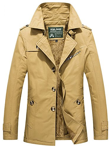 Jacket Cotton JIINN Winter Windbreaker Yellow Mens Trench Warm Military Blazer Uk5793z Velvet Outdoor Coat Plus Thick Parka xBxAwT6H