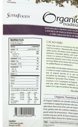 Organic Traditions Organic Nibs, Cacao, 16 Ounce by Organic Traditions (Image #1)