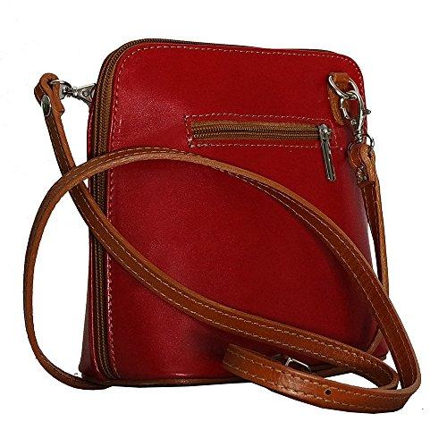 Pelle L'uomo In Borsa tendance Chapeau Rosso Tracolla Per A F0XUgq