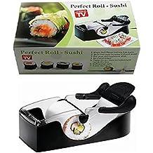 Drhob Plastic Sushi Roller/ Vegetable meat rolls Machine/ Kitchen Grape/Cabbage Leaf Rolling Tool/ DIY Roll Maker (Color:black)