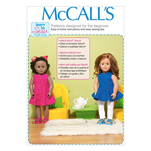 Mccall Pattern Company M7105 Clothes for 18-Inch Dolls, C...