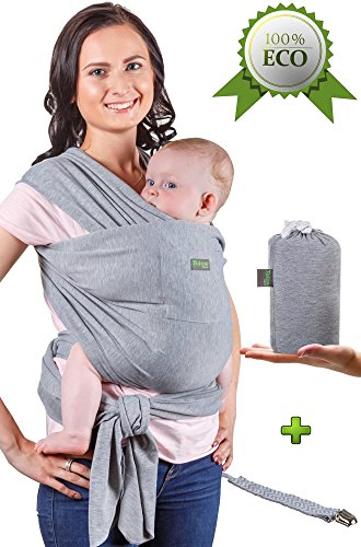 Baby Wrap Carrier - Baby Sling up to 35 lbs - Infant Wrap - Newborn Baby Carrier Sling - Baby Carrier Wrap and Sleepy Wrap for Toddler - Breastfeeding Sling - Perfect Baby Gift Sling - Organic Cotton