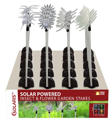 Alpine QLP268ABB Four Seasons insect & Plastic Flower Garden Stake - Pack of 12
