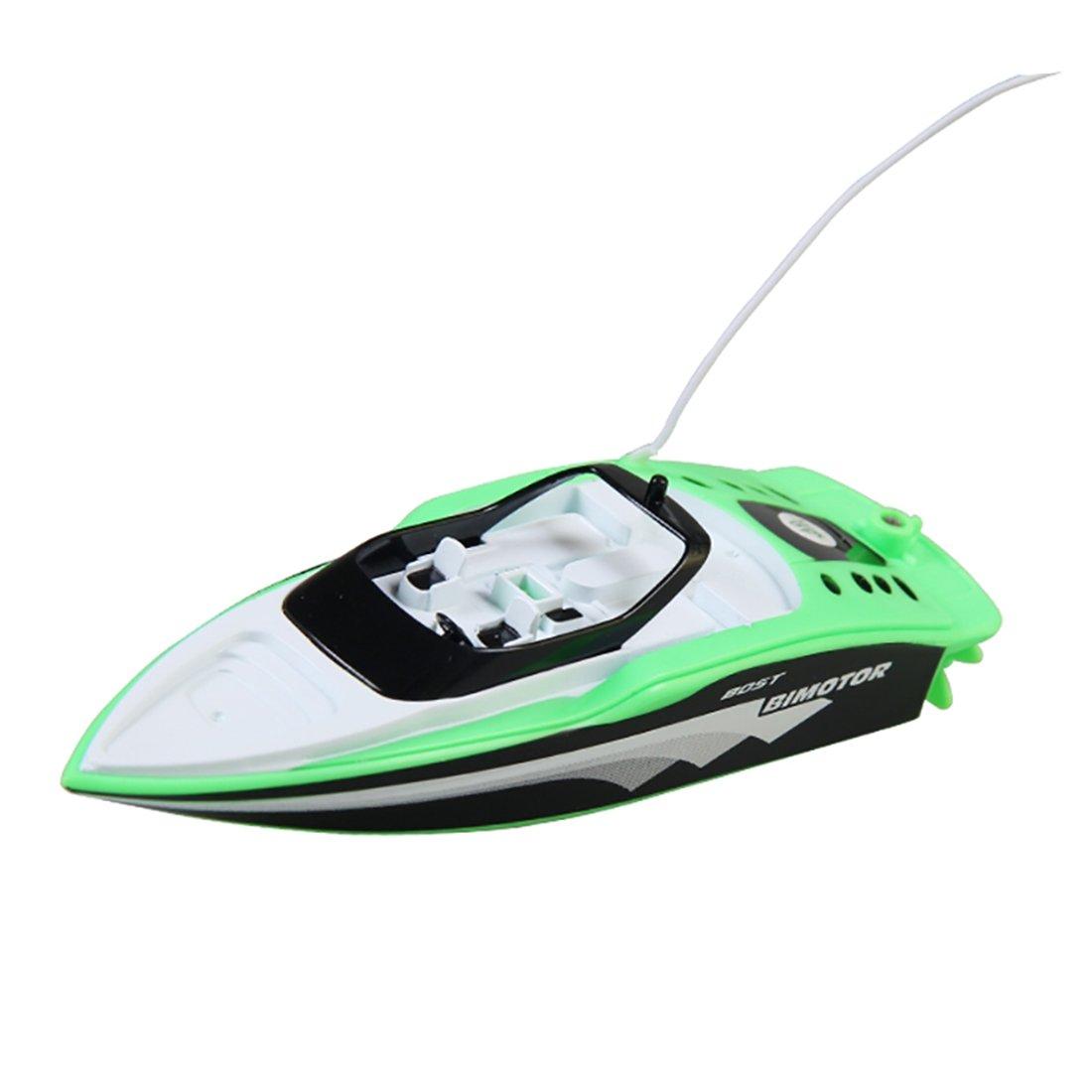 Tosbess RC ferngesteuertes Mini Speedboot mit Integriertem Akku, Komplett-Set inkl. Fernsteuerung, RC Boot, RC Schiff