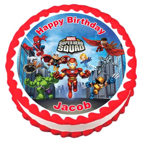 Toy Store - SUPER HERO SQUAD Party Edible image Cake topper design 5