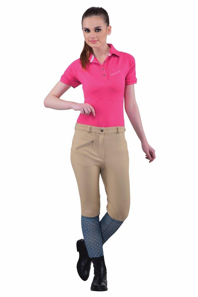 TuffRider Women's Ribb Knee Patch Breeches (Regular), Light Tan, 24