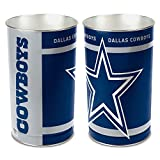 "DAllas Cowboys Trashcan Wastebasket - tapered 15"" tall by 10.25"" Wincraft"