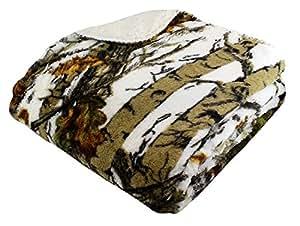 "REGAL 50"" x 70"" Sherpa Luxury Throw Blanket - The Wood's White Camo"