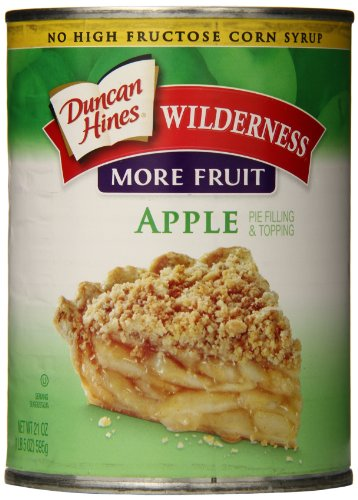 Wilderness More Fruit Pie Filling & Topping, Apple, 21 Ounce (Pack of 8)