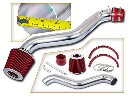 Rtunes Racing Short Ram Air Intake Kit + Filter Combo RED For 92-96 Honda Prelude / 94-97 Honda Accord L4