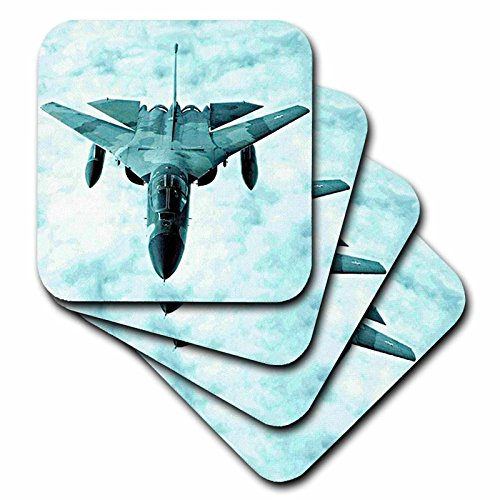 (Jet - F-111 Bomber F111 - set of 4 Coasters - Soft (cst_322_1))