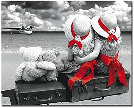 ERQINGSZH Pintura Decorativa Digital Mano Pintura Al Óleo por Números Kits De Bricolaje Dibujo Hombre Sopló Su Trompeta para Colorear En Lienzo Pared Pinturas Modulares Obras De Arte Pintura Pint: Amazon.es: Hogar