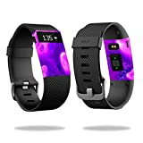 (US) MightySkins Protective Vinyl Skin Decal for Fitbit Charge HR Watch cover wrap sticker skins Purple Heart