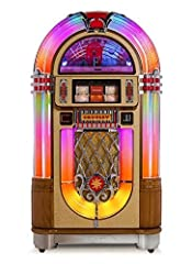 You've never seen a jukebox like this before - or heard one like it either. The Crosley Slimline boasts all the power of a full-bodied jukebox - minus the massive cabinet. Sculpted with authentic styling, modern features and hand-crafted cabi...