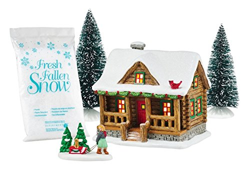 Department 56 by Enesco Holiday In The Woods Holiday Cabin Gift'' Set