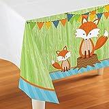 "Forest Fox Plastic Tablecloth 54"" x 108"""