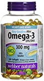 Best Omega 3 Pharmaceuticals - Webber Naturals Easy-Swallow Mini Omega-3, 300 Mg Review