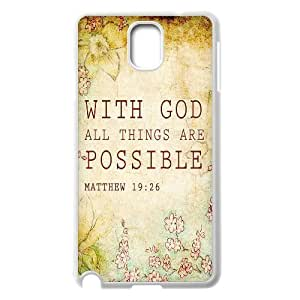 Bible Verse Original New Print DIY Phone Case for Samsung Galaxy Note 3 N9000,personalized case cover ygtg619841