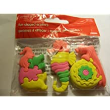 Staples Animal Puzzle Erasers ~ Set of 3 (Elephant, Seahorse, Snail) by Staples