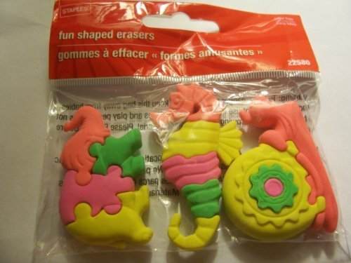 staples-animal-puzzle-erasers-set-of-3-elephant-seahorse-snail-by-staples