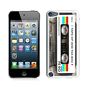 Elite Case for Apple ipod Touch 5,Audio Cassette ipod touch 5 Case White Cover 7