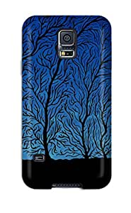 Forever Collectibles Blue Silhouettes Forest Man Trees Black Alone Cartoon Paint Book Novels Anime Other Hard Snap-on Galaxy S5 Case