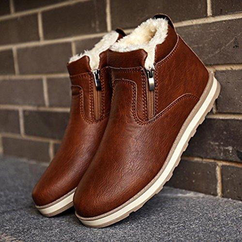 Caviglia Piatte Marrone Inverno Moda Top Martin Eleganti Scarpe Uomo Uomo Bassa Beauty Stivali Stivali Neve Casual Invernali Boot 6COpq