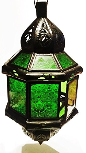 Moroccan Hanging Candle Lantern 8-Sided Octagon Light [SHIPS FROM WITHIN USA] by Moroccophile Souk