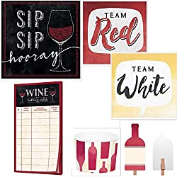 Host Your Own Perfect Wine Tasting Party Ultimate Bundle with Wine Tasting Sheets, Beverage Napkins, Food Markers, Treat Cups, Sangria Recipe