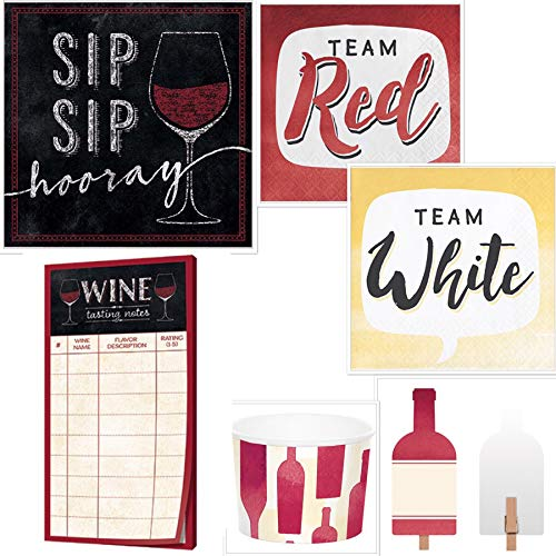 - Host Your Own Perfect Wine Tasting Party Ultimate Bundle with Wine Tasting Sheets, Beverage Napkins, Food Markers, Treat Cups