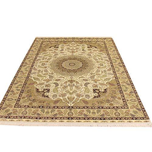 Camel Carpet 6'x9′ Vintage Handmade Persian Rug Silk Area Rug for Familyroom