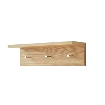 LYTSM Perchero, Repisa de Estante de Pared de Madera Maciza ...