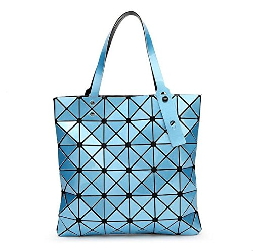 Bag Diamond Women Sky Handbags Baobao Geometric Laser Shoulder Bao one Blue Silica Size Shape Bao Tote Gel Sliver Silver Patchwork Paint wBSFBq6Ix