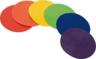 CreativeMinds UK Kids Learning Activity Indoor Play Positional Poly Floor Markers Discs Set Of 6