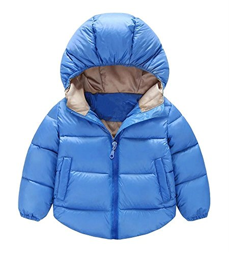 Toddler Baby Boys Girls Outerwear Hooded coats Winter Jacket Kids Clothes, 18-24 Months, Blue by JINTING
