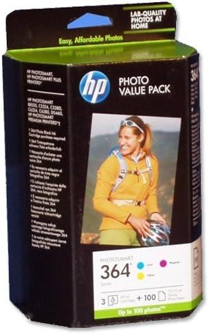 HP 364 Series Photo Value Pack-85 sht/10 x 15 cm - Cartucho de Tinta para impresoras (Cian, Magenta, Amarillo, 100 x 150 mm, Brillo, 5-80%, -40-70 °C, 5-50 °C): Amazon.es: Oficina y papelería