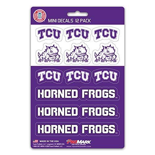 Team ProMark (TEK7V) NCAA TCU Horned Frogs Mini Decal, 12-Pack