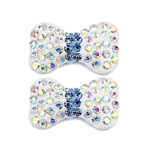 10 Pcs/Lot 11.5x18.5mm Clay Crystal Rhinestone Beads Colored Butterfly Stones Hair Jewelry Making Clothing Decoration,F03