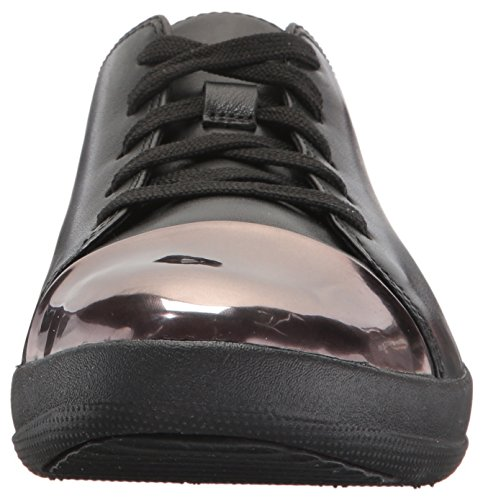 Toe Sporty F Leather Sneaker Black 001 Nero Mirror Black 4fxnqxwZv