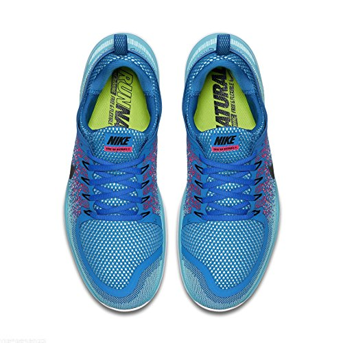 Nike Free RN Distance 2, Scarpe da Corsa Uomo 403 SOAR/BLACK-HOT PUNCH-POLAR