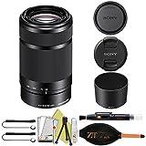Sony E 55-210mm F4.5-6.3 OSS Lens for Sony E-Mount Cameras (Basic Accessory Kit, Black)