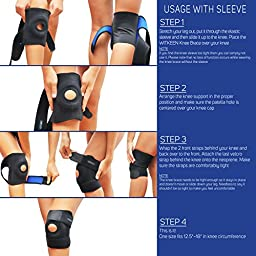 WITKEEN Knee Support Brace - Immediate Relief for Arthritis, Tendonitis, Sports, Sprains - Protects Against Further Knee Damage - Irritation Free Construction - Comfortable for Everyday Wear