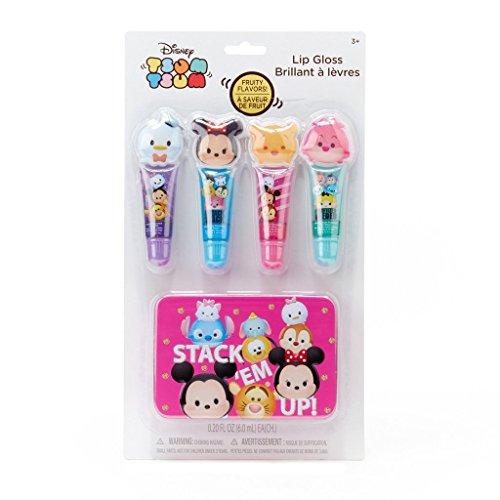 Tsum Tsum Set Lip Gloss Tubo con Estuche Decorado